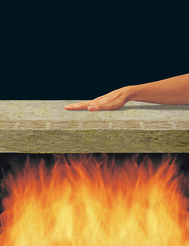 Roxul insulation acts as a fire barrier giving more time for Fireproof vapor barrier